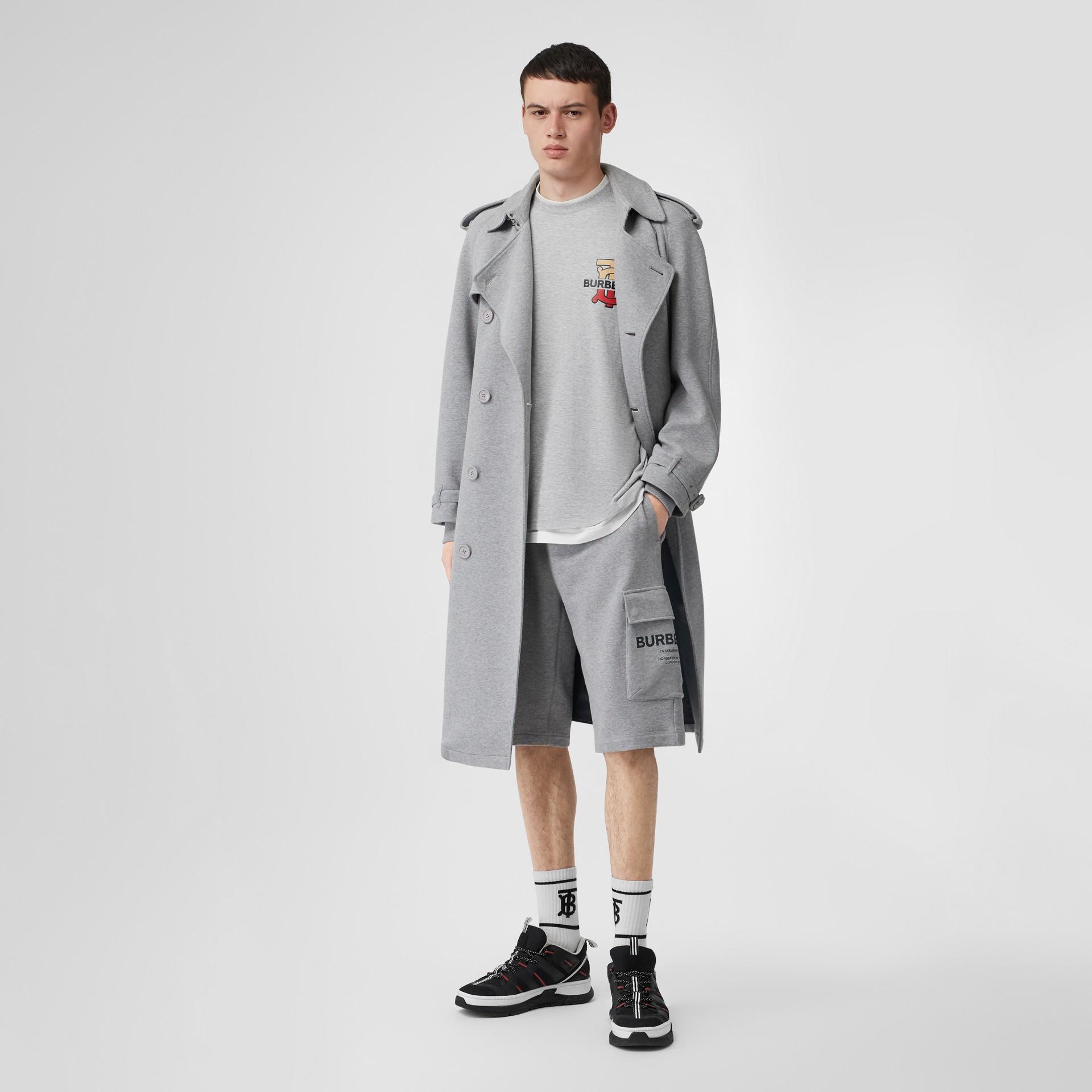 Oversize-T-Shirt aus Baumwolle mit Monogrammmotiv (Hellgrau Meliert) - Herren | Burberry - Galerie-Bild 0