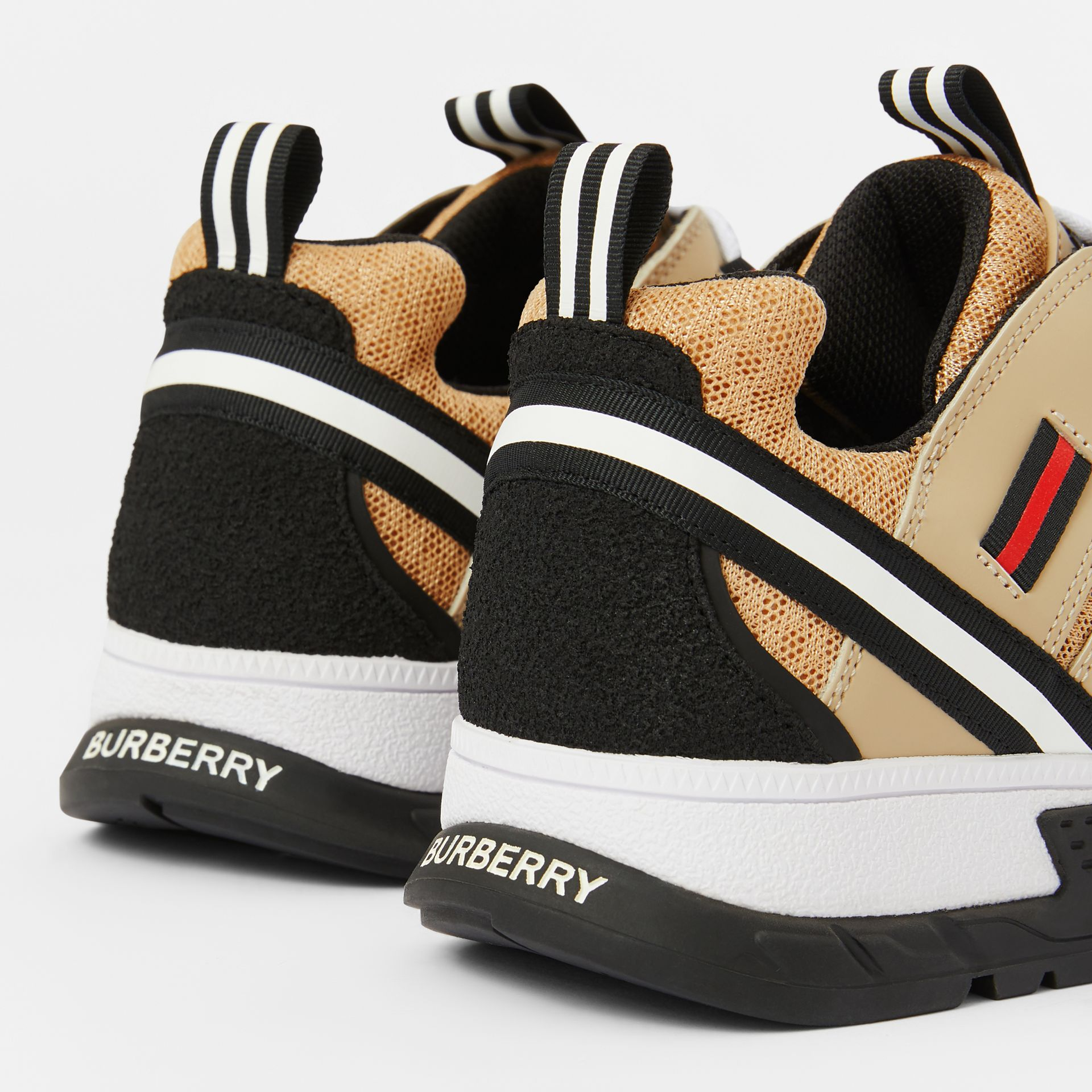 Nubuck and Mesh Union Sneakers in Archive Beige - Children | Burberry - gallery image 1