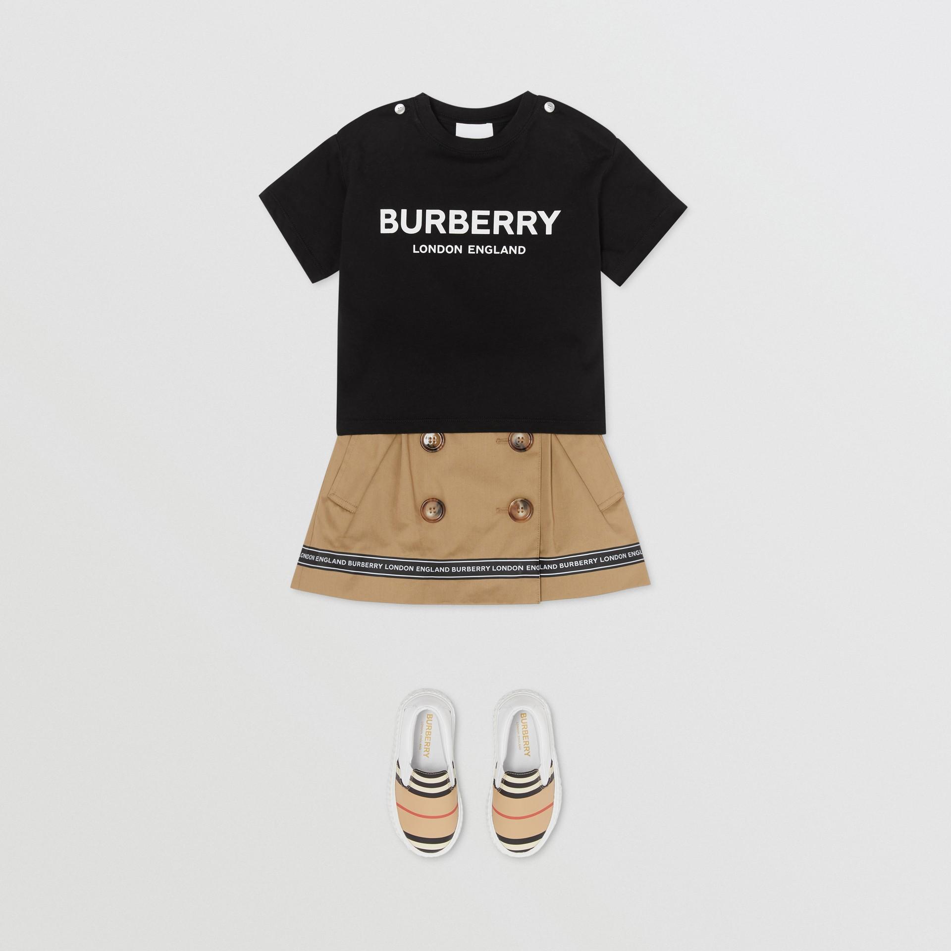 Baumwoll-T-Shirt mit Burberry-Logo (Schwarz) - Kinder | Burberry - Galerie-Bild 2