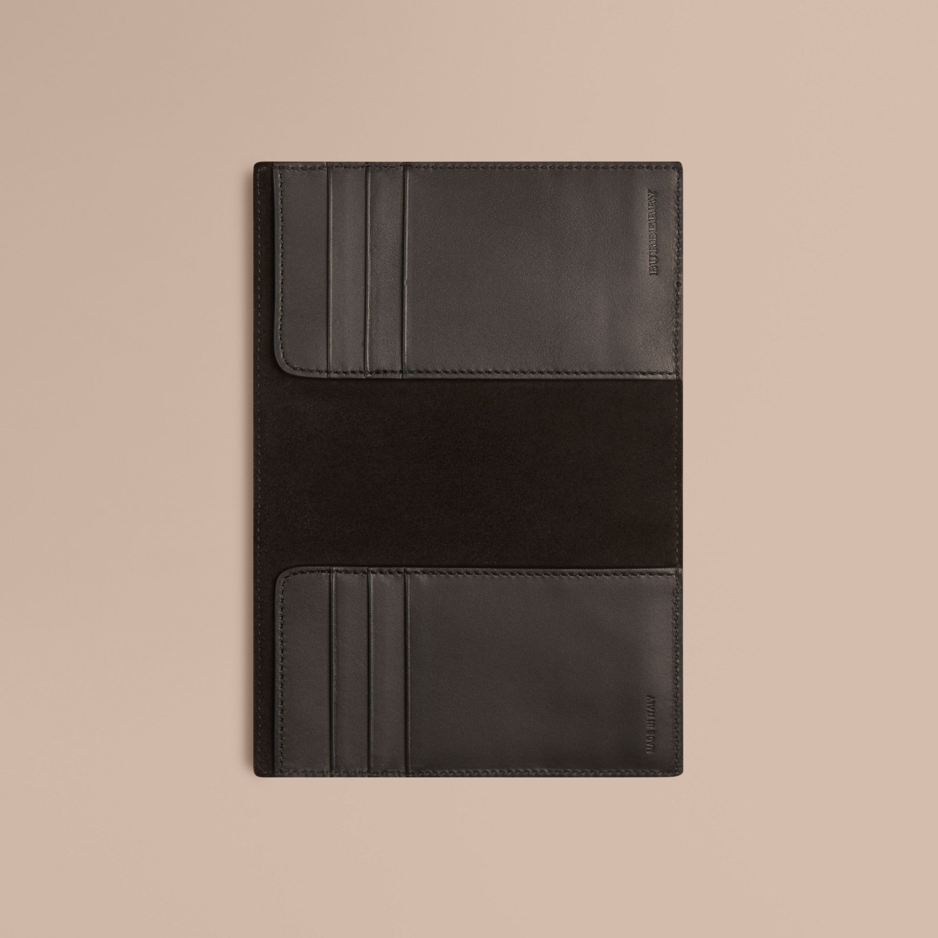 Black London Leather Passport Cover Black - gallery image 4