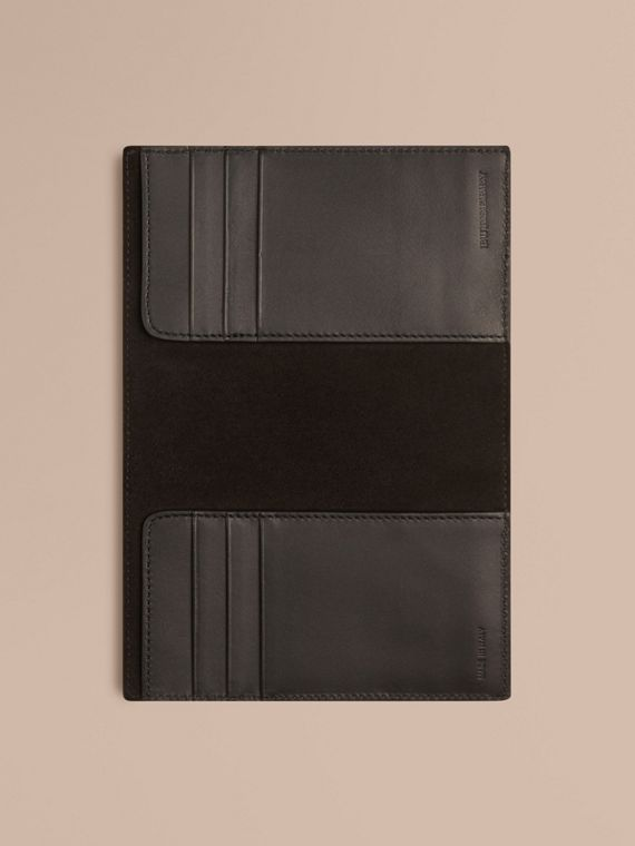 Black London Leather Passport Cover Black - cell image 3