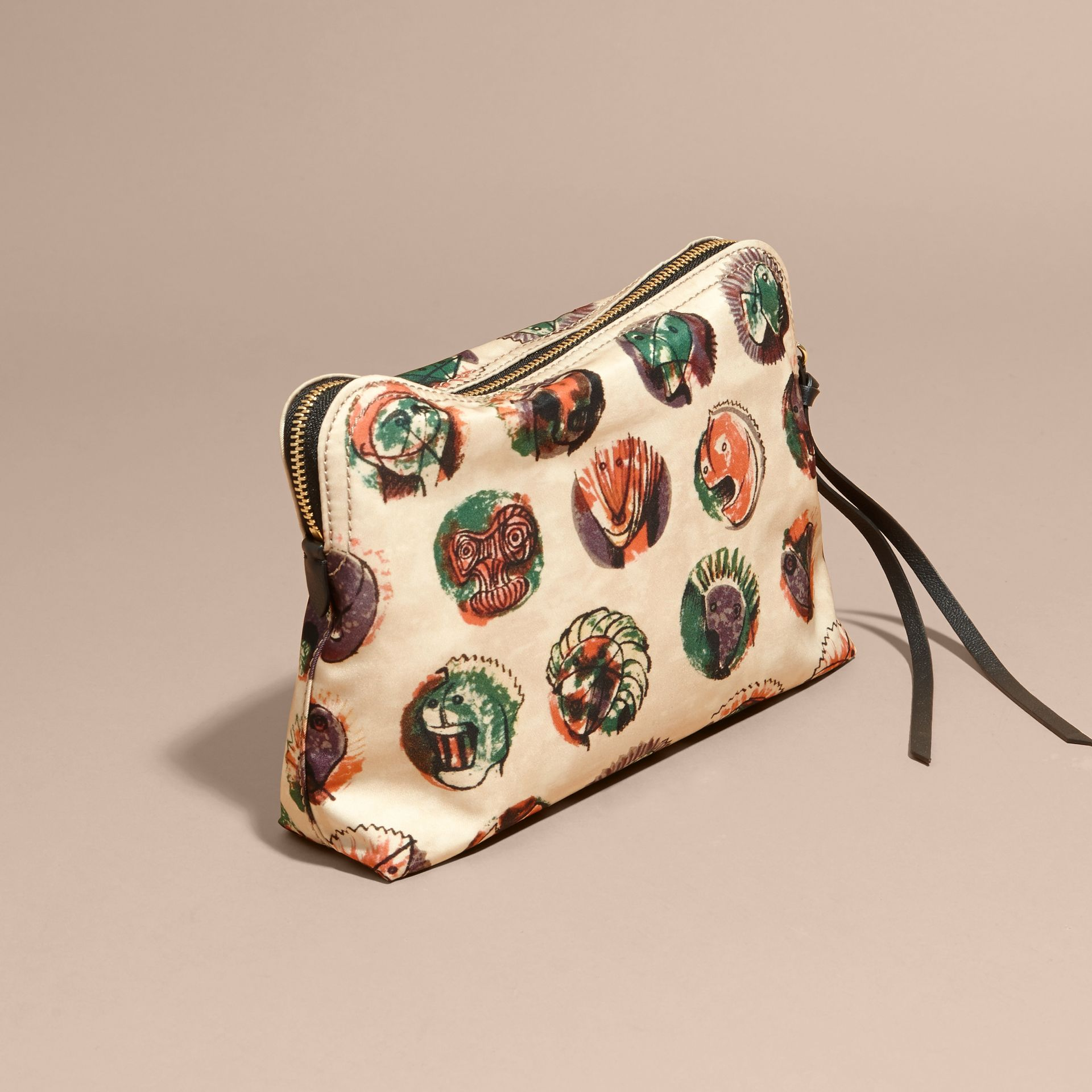 Large Zip-top Pallas Heads Print Pouch - Women | Burberry - gallery image 4