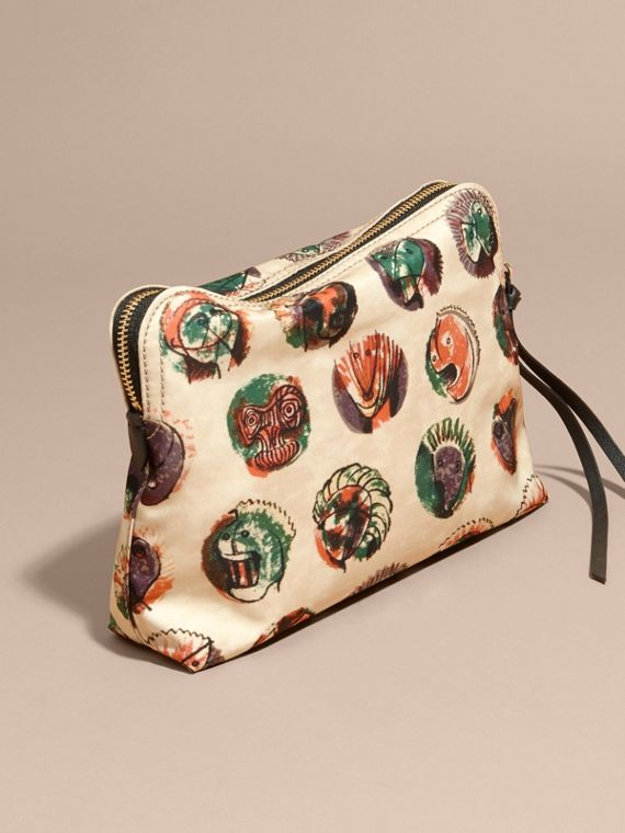 Large Zip-top Pallas Heads Print Pouch - Women | Burberry - cell image 3