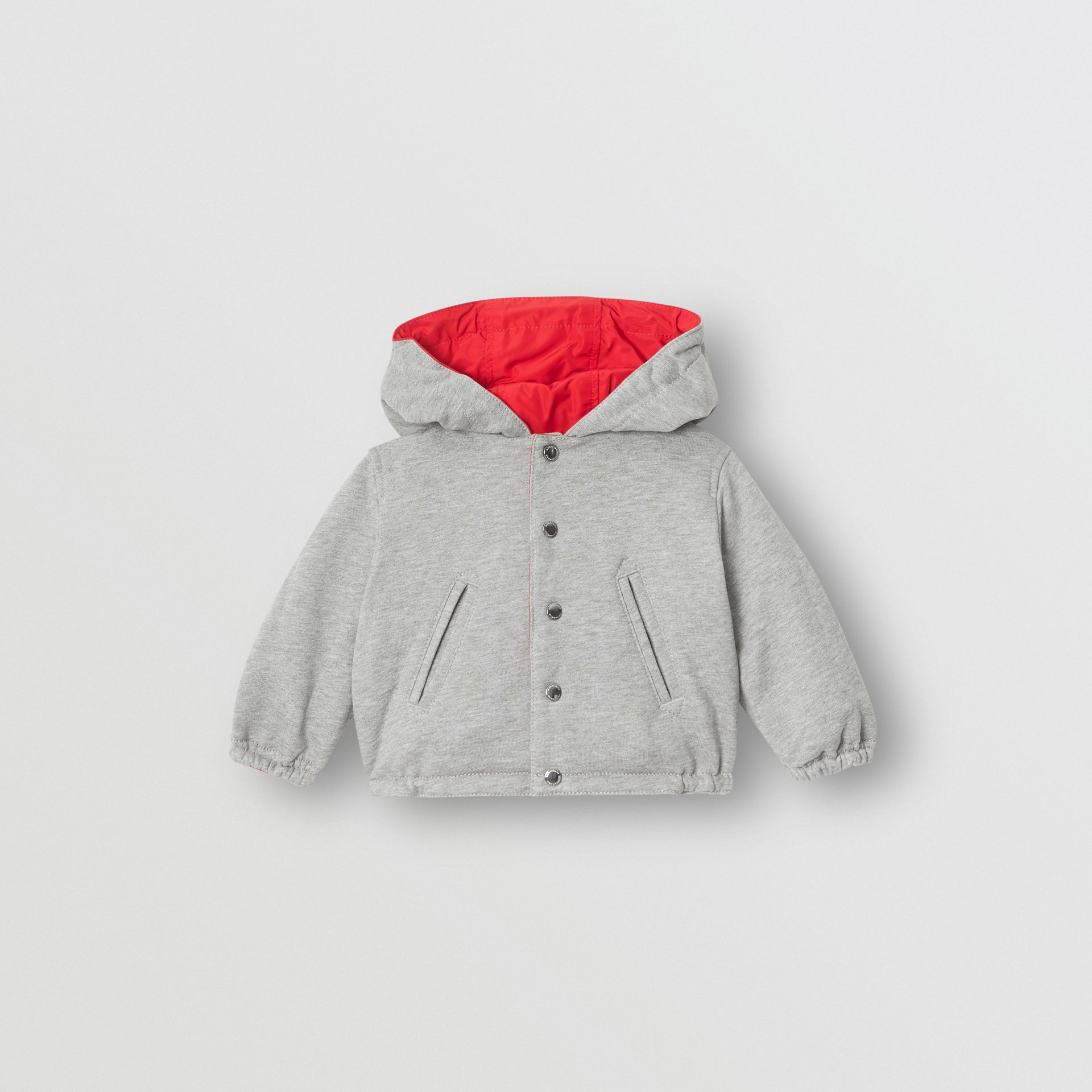 Reversible Logo Print Hooded Jacket in Bright Red - Children | Burberry Australia - gallery image 3