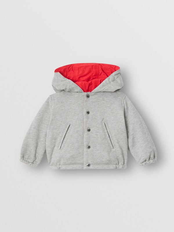 Reversible Logo Print Hooded Jacket in Bright Red - Children | Burberry - cell image 3