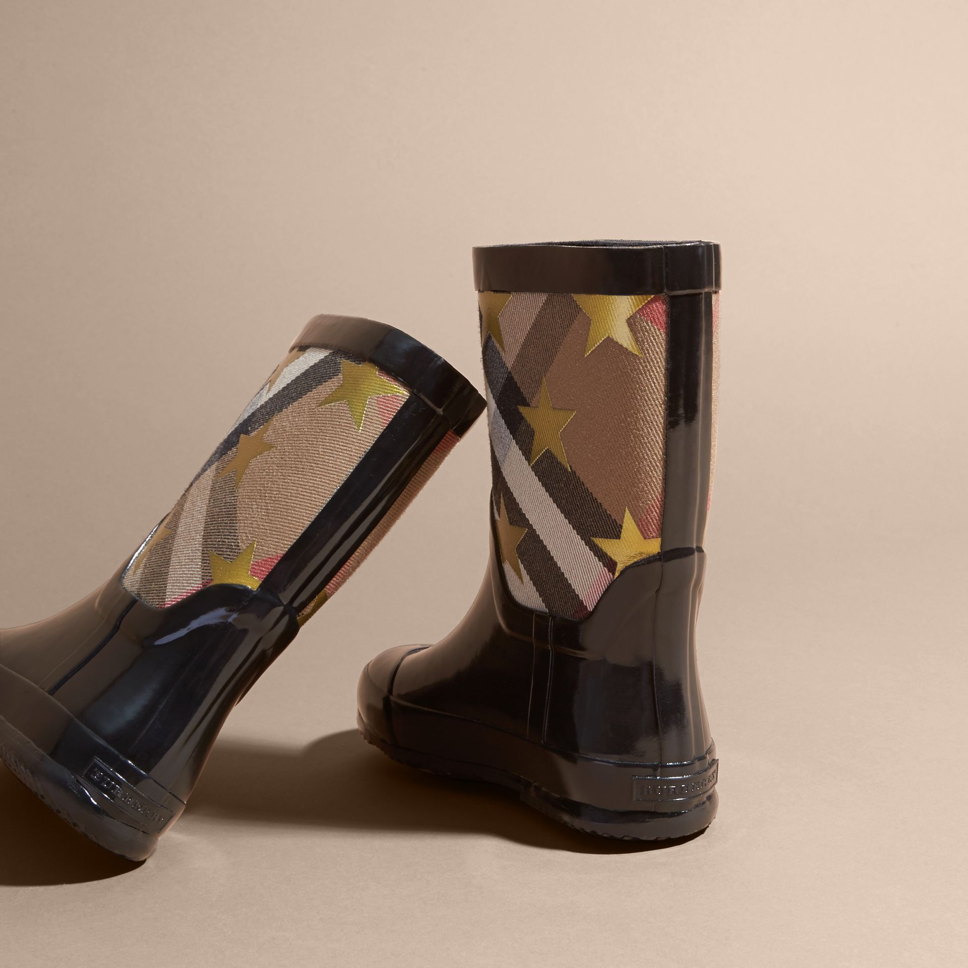 Black Star Print House Check Rain Boots - gallery image 4