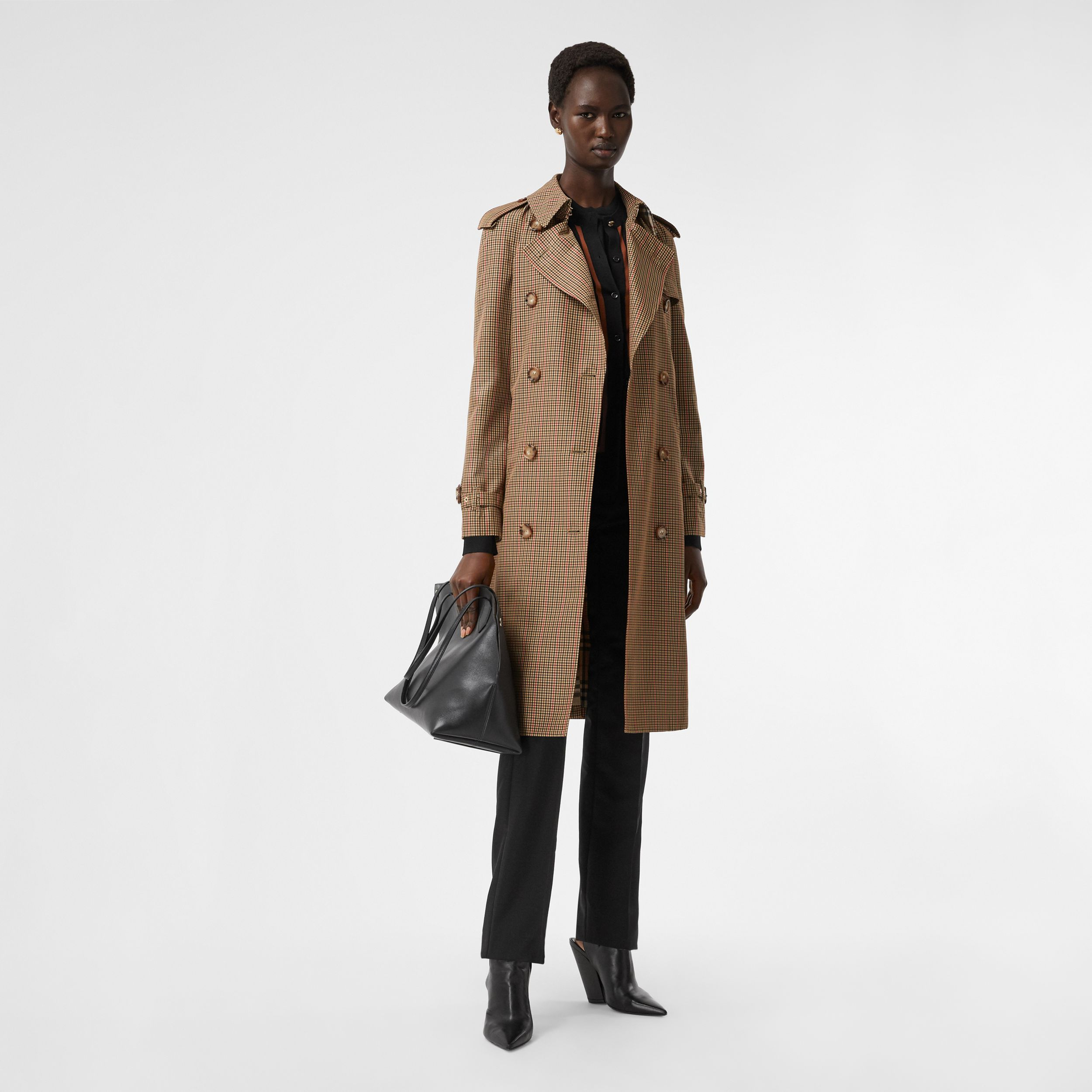 Check Recycled Polyester Trench Coat in Brown - Women | Burberry - 1