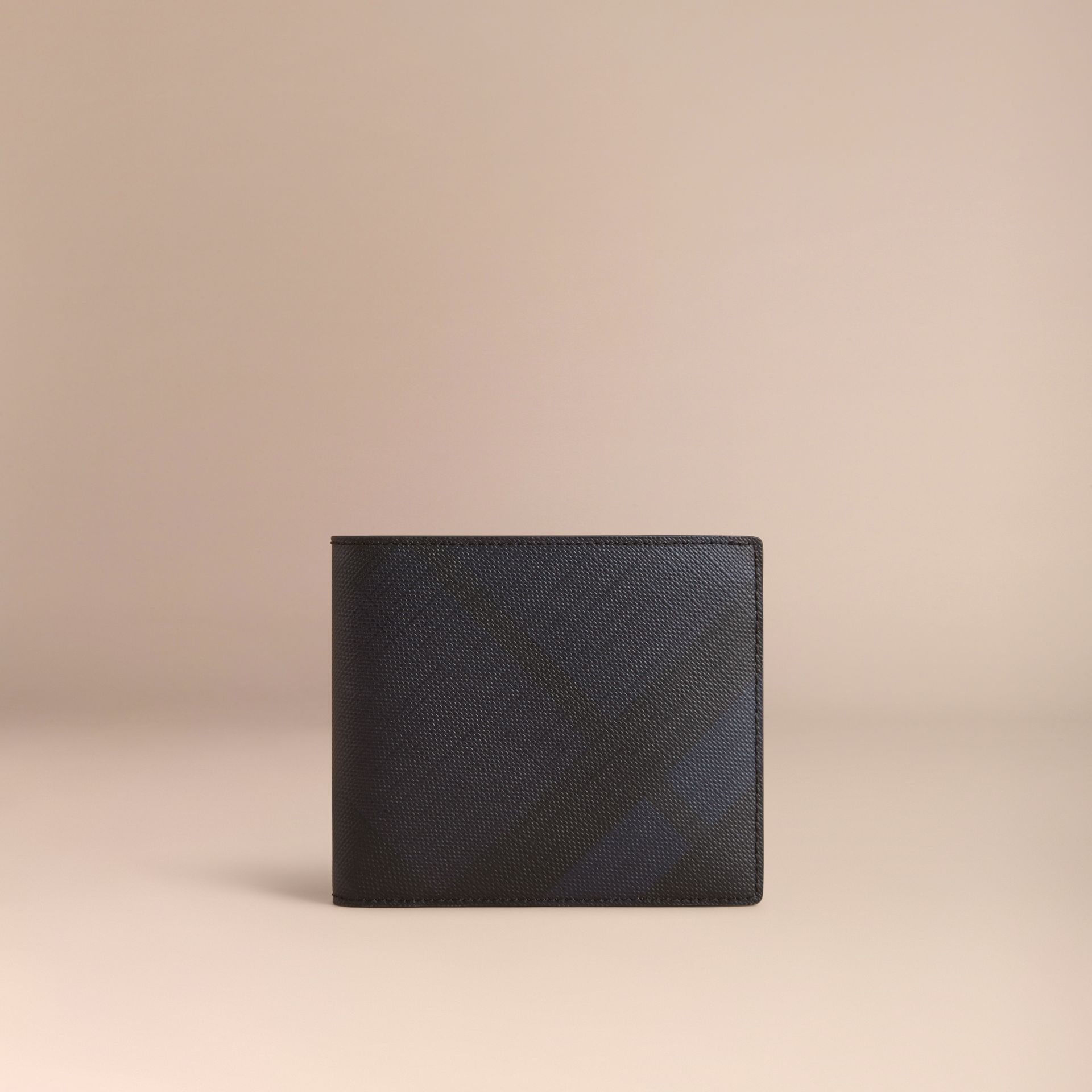 London Check Folding Wallet Navy/black - gallery image 6