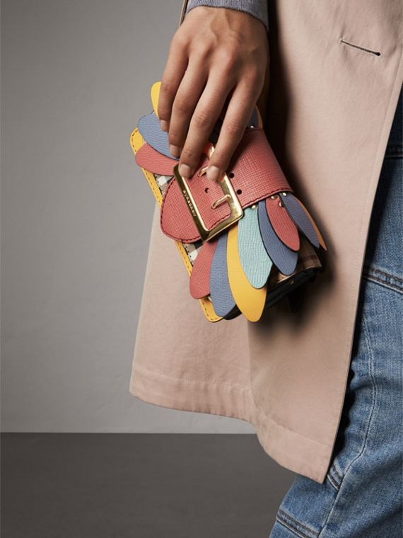 The Small Buckle Bag in Haymarket Check and Leather in Cinnamon Red - Women | Burberry Canada - cell image 3