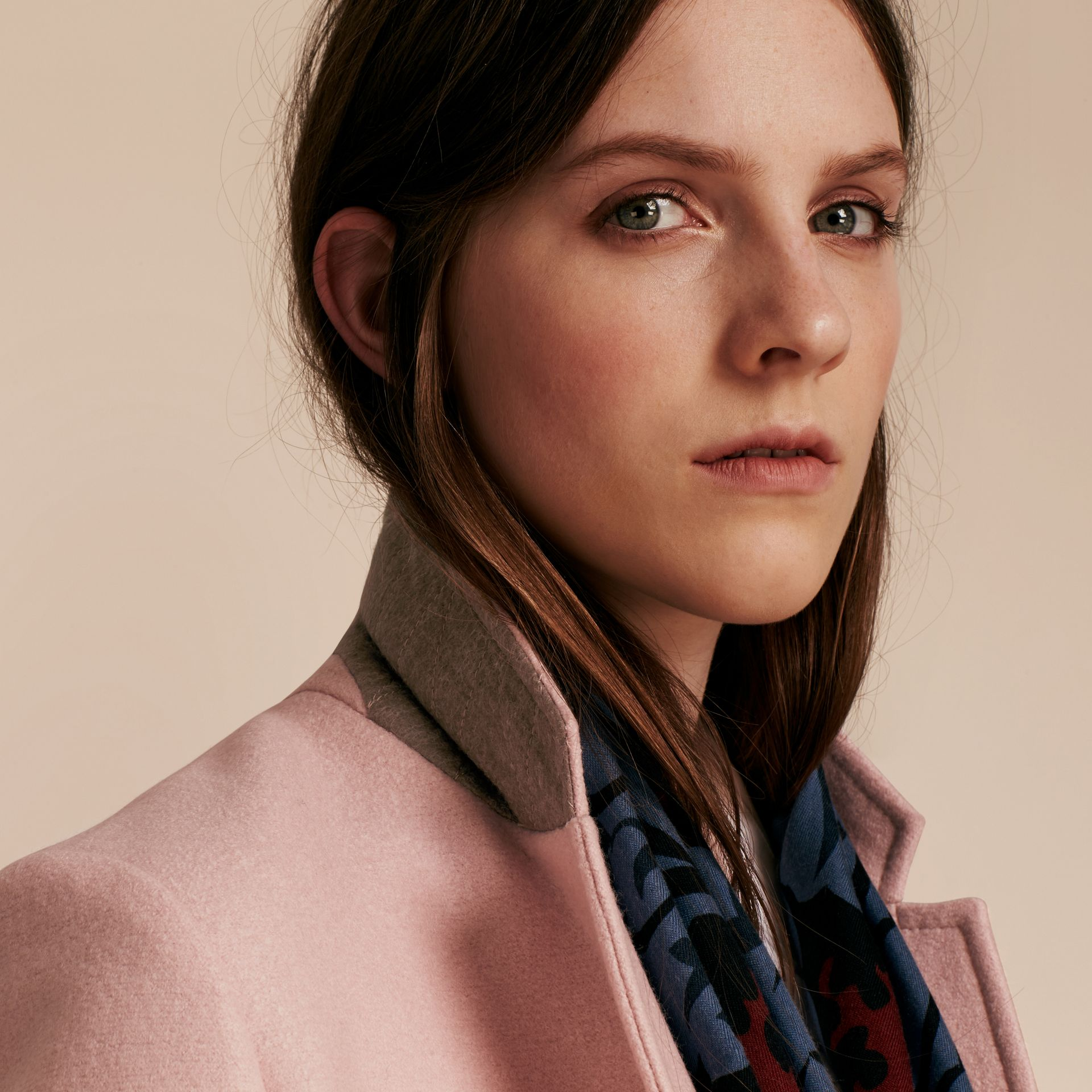 Chalk pink Boiled Wool Tailored Coat - gallery image 5