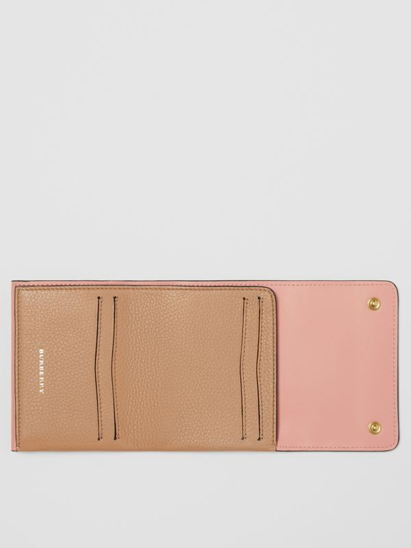Small Leather Folding Wallet in Light Camel - Women | Burberry Singapore - cell image 3