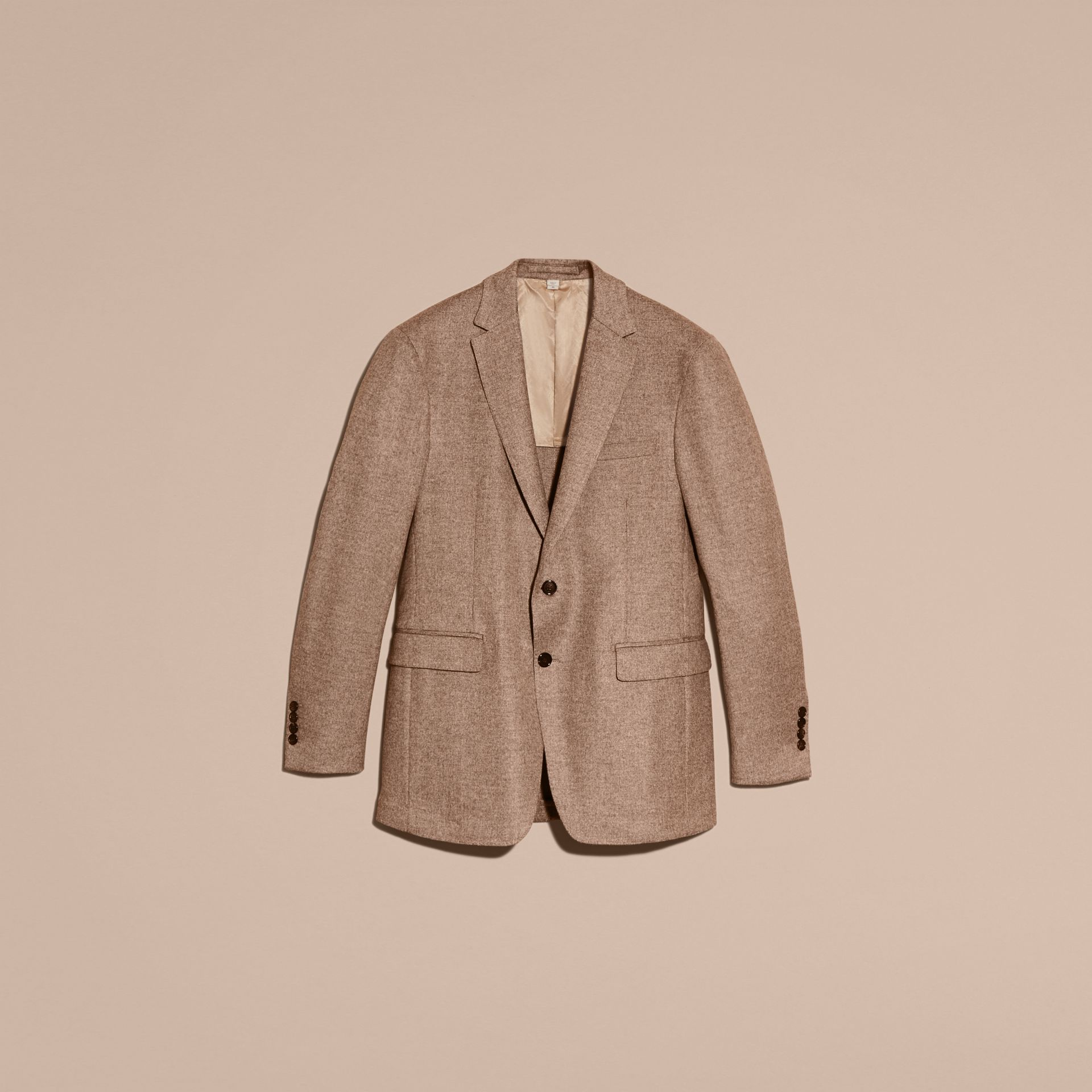 Camel Modern Fit Wool Cashmere Silk Tailored Jacket - gallery image 4