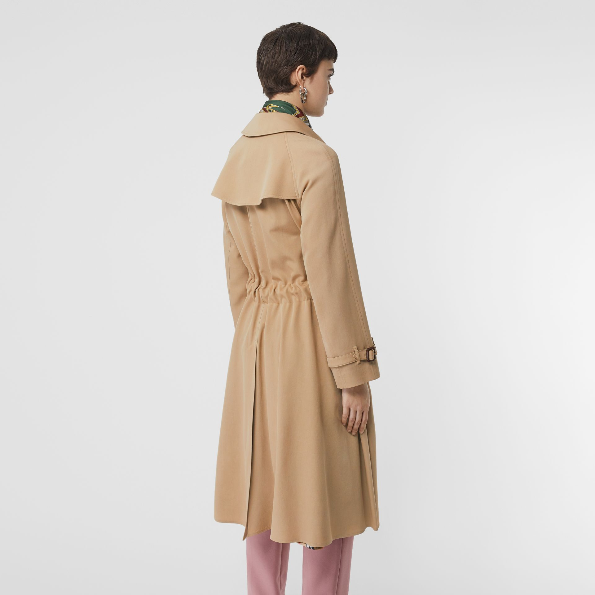 Wool Gabardine Trench Coat in Honey - Women | Burberry United States - gallery image 2