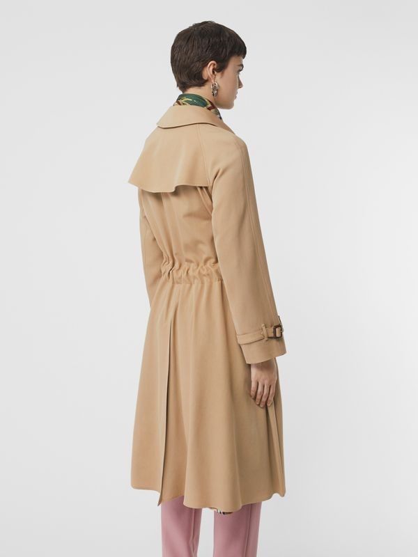 Wool Gabardine Trench Coat in Honey - Women | Burberry United Kingdom - cell image 2