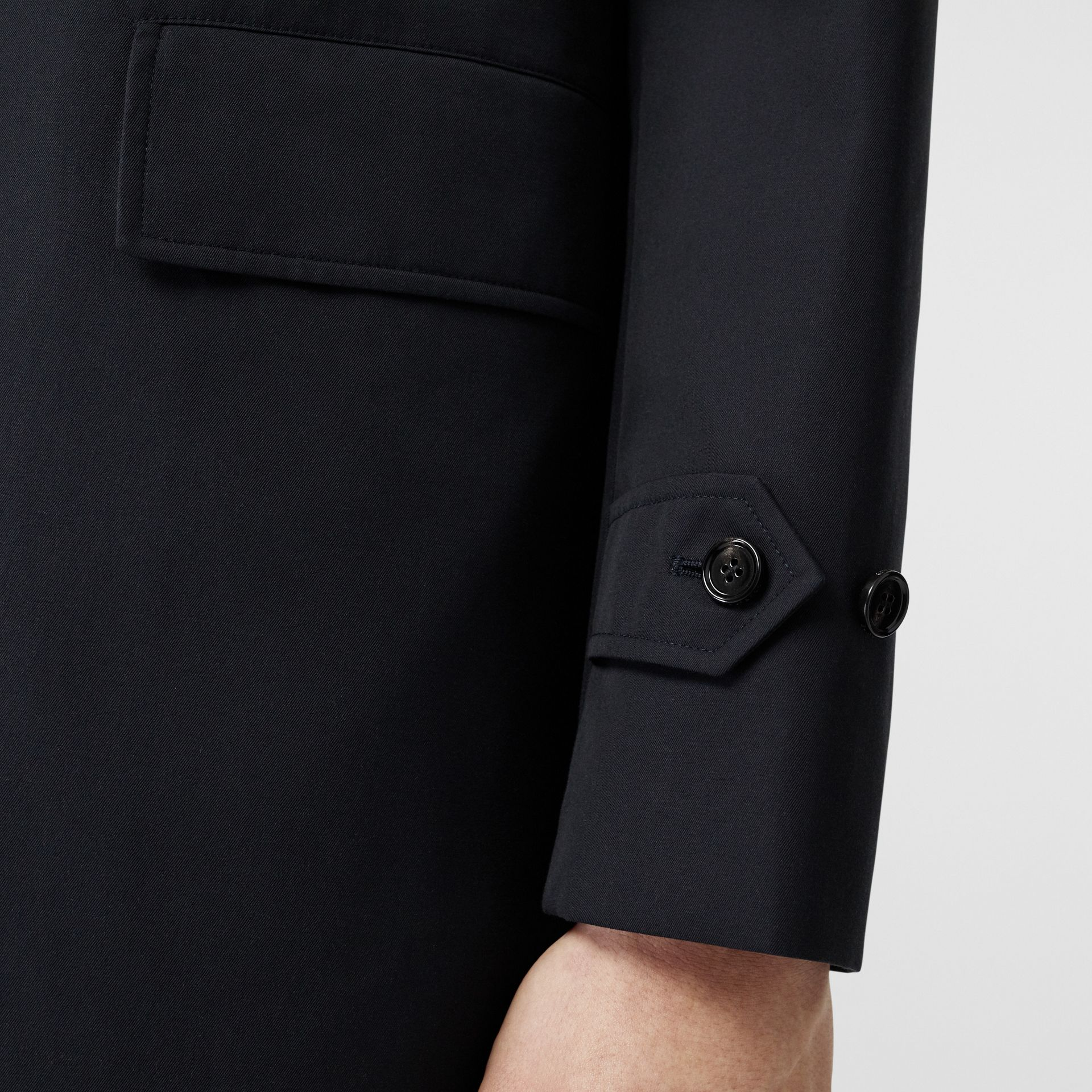 Cotton Gabardine Car Coat in Midnight Navy - Men | Burberry - gallery image 4