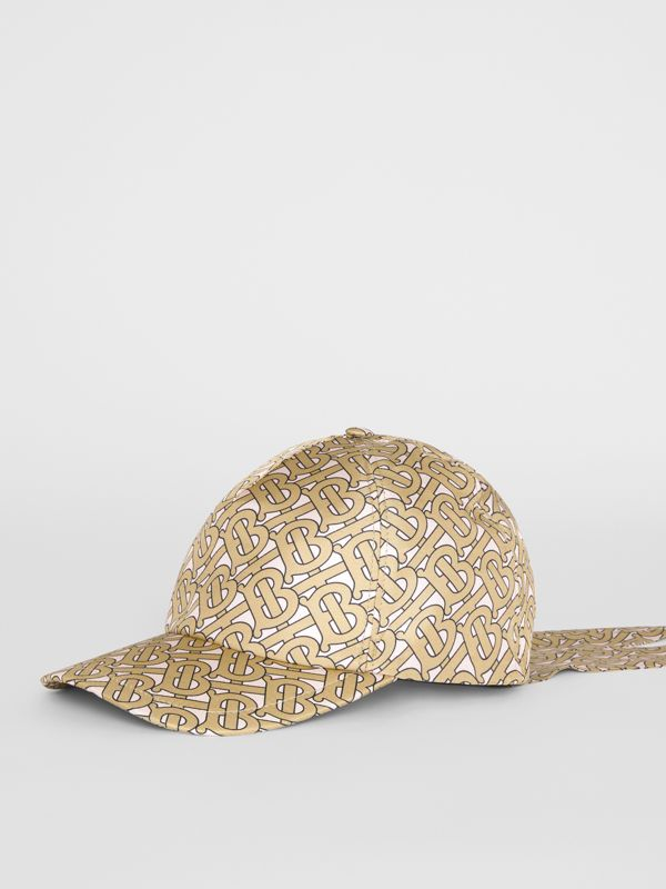 Monogram Print Baseball Cap in Pink - Women | Burberry - cell image 3