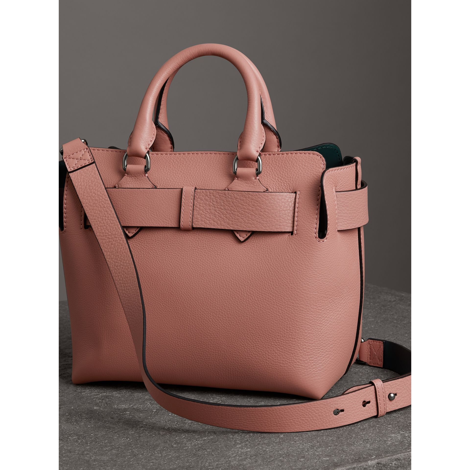 The Small Leather Belt Bag in Dusty Rose - Women | Burberry - gallery image 2