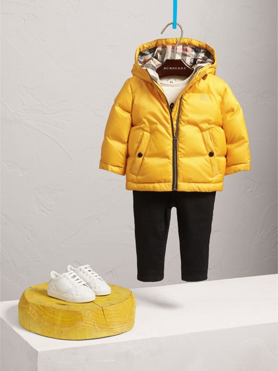 Down-filled Hooded Puffer Jacket in Larch Yellow