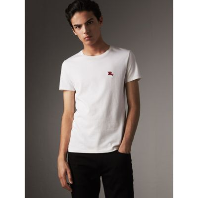 Pocket Detail Cotton Jersey T-shirt - White Burberry Discount Finishline Buy Cheap Enjoy Free Shipping Manchester Buy Online Authentic Pc02rO