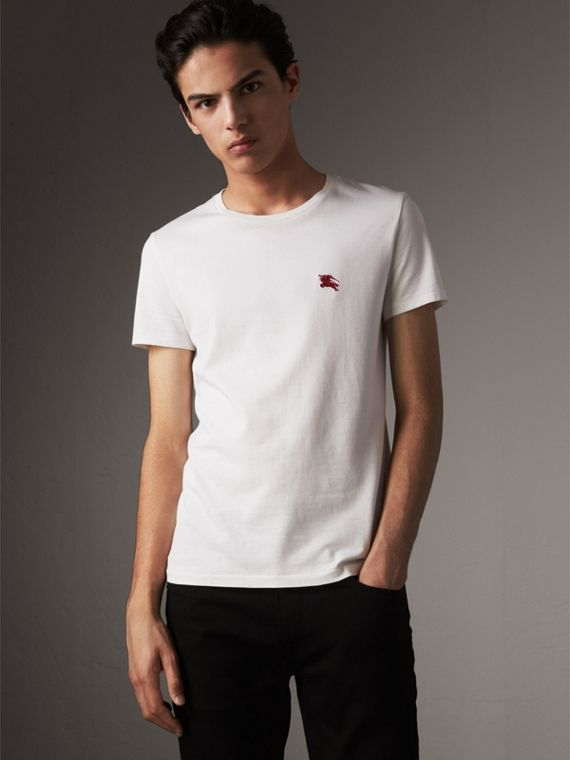 T-shirt en jersey de coton (Blanc Optique) - Homme | Burberry