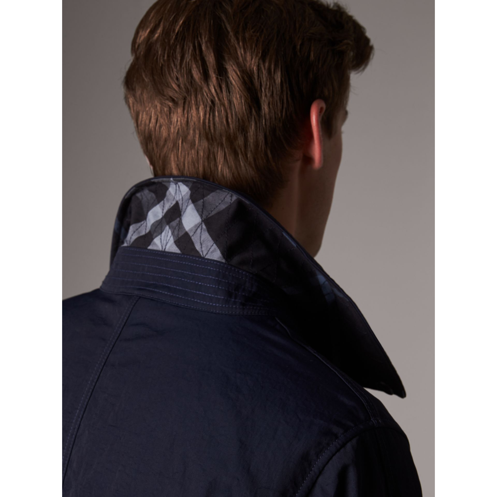 Car Coat with Detachable Down-filled Gilet in Ink Blue - Men | Burberry - gallery image 1