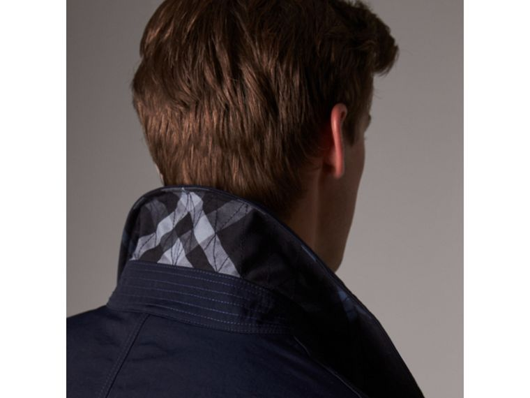 Car Coat with Detachable Down-filled Gilet in Ink Blue - Men | Burberry - cell image 1