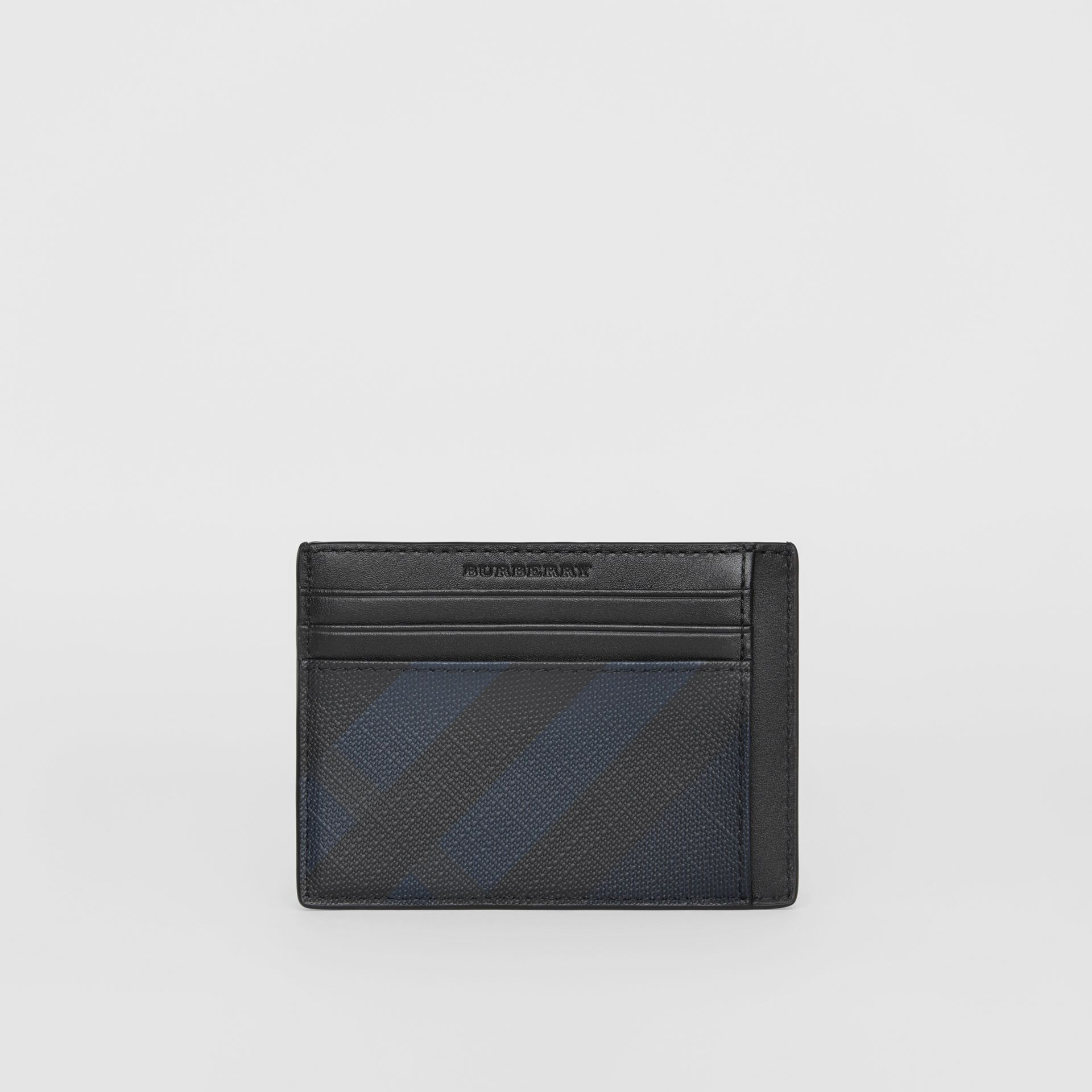 London Check Card Case in Navy/black - Men | Burberry - gallery image 5