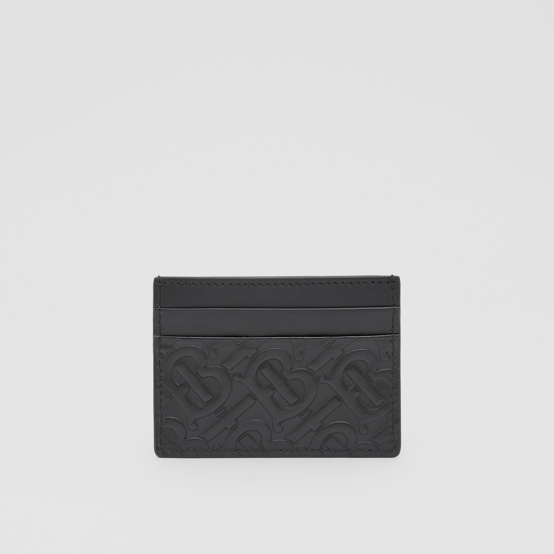 Monogram Leather Card Case in Black | Burberry - gallery image 4