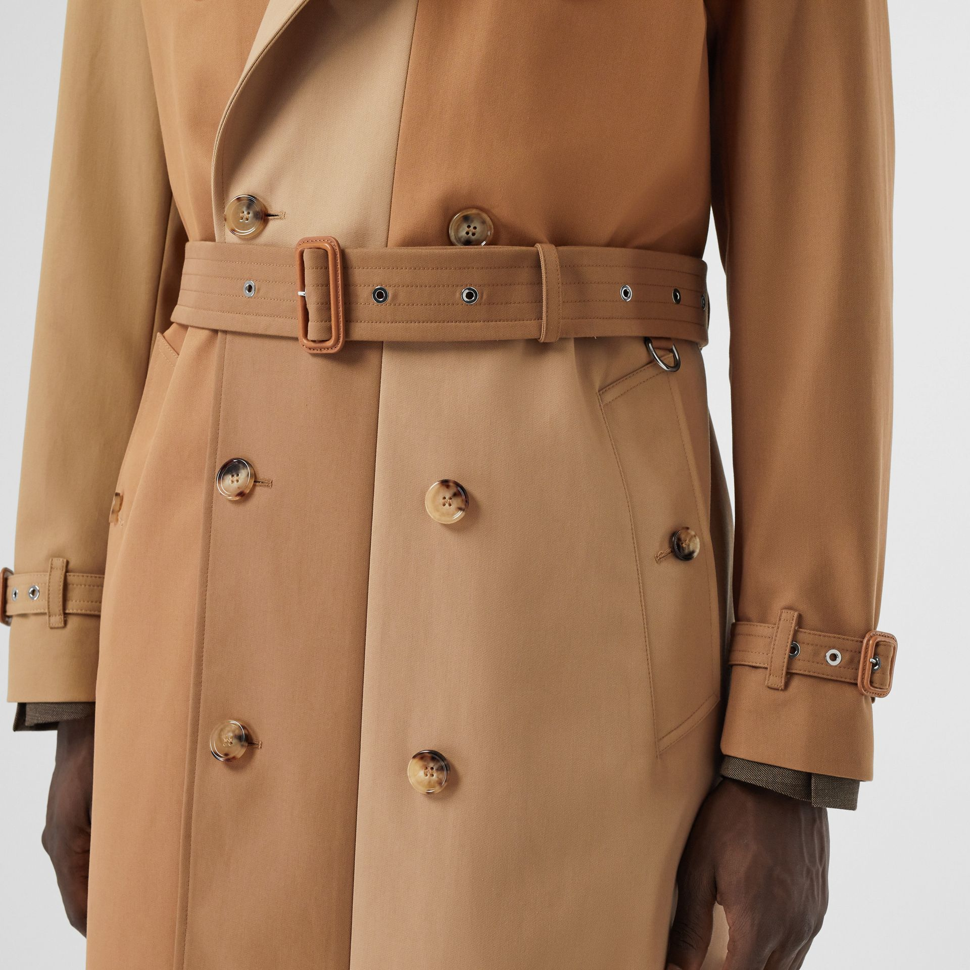 Panelled Cotton Trench Coat in Warm Camel - Men | Burberry Singapore - gallery image 5