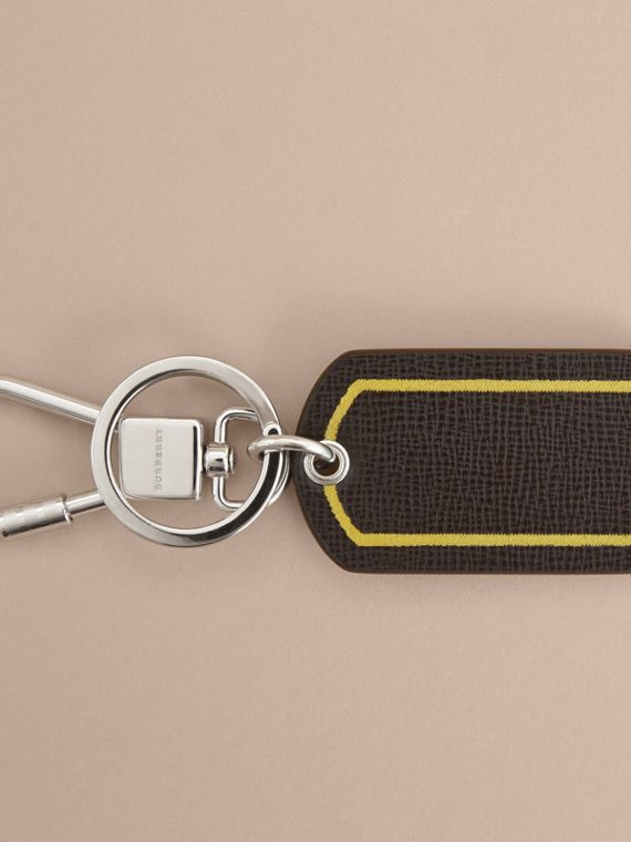 Border Detail London Leather Key Charm - cell image 2