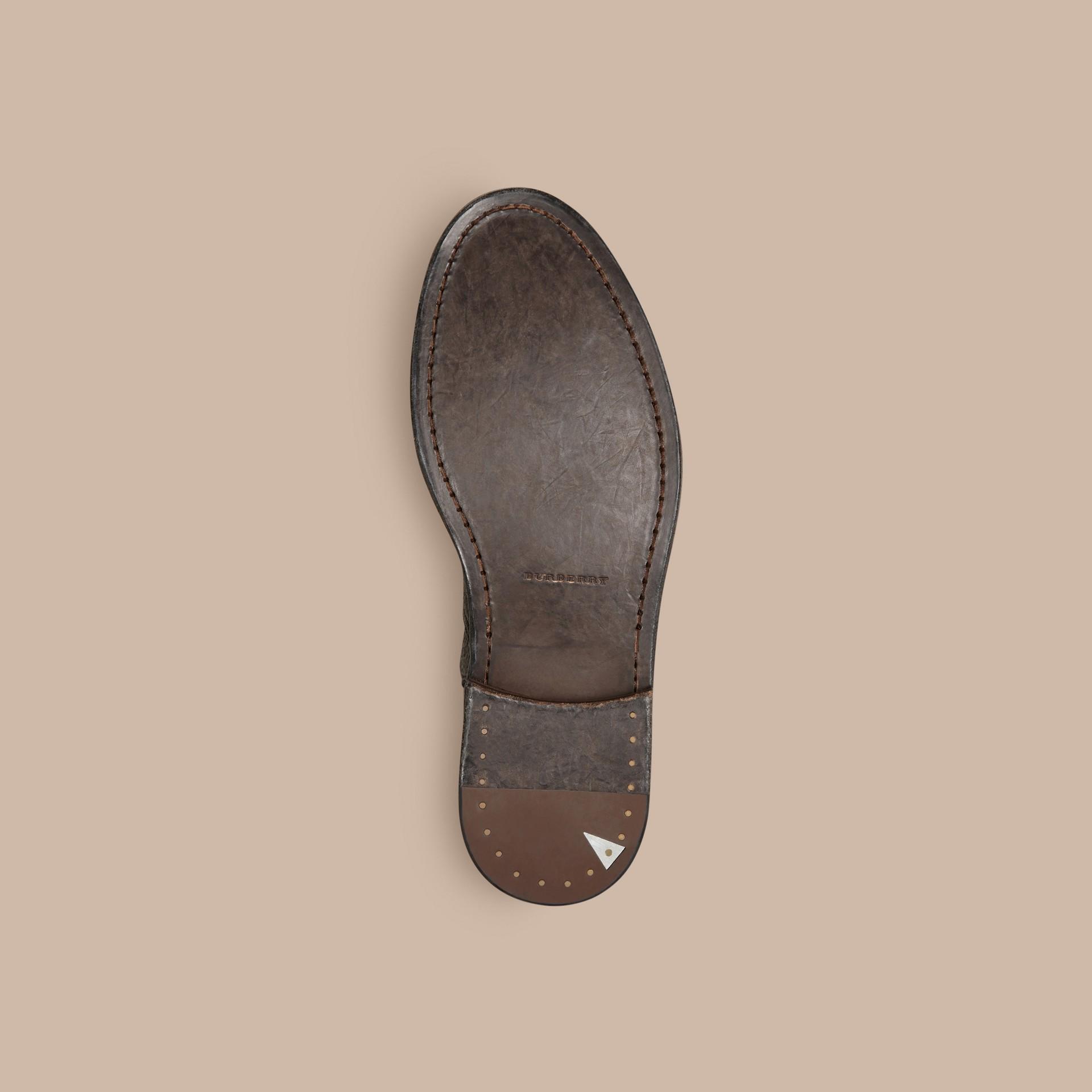 Black Deerskin Ankle Boots - gallery image 5