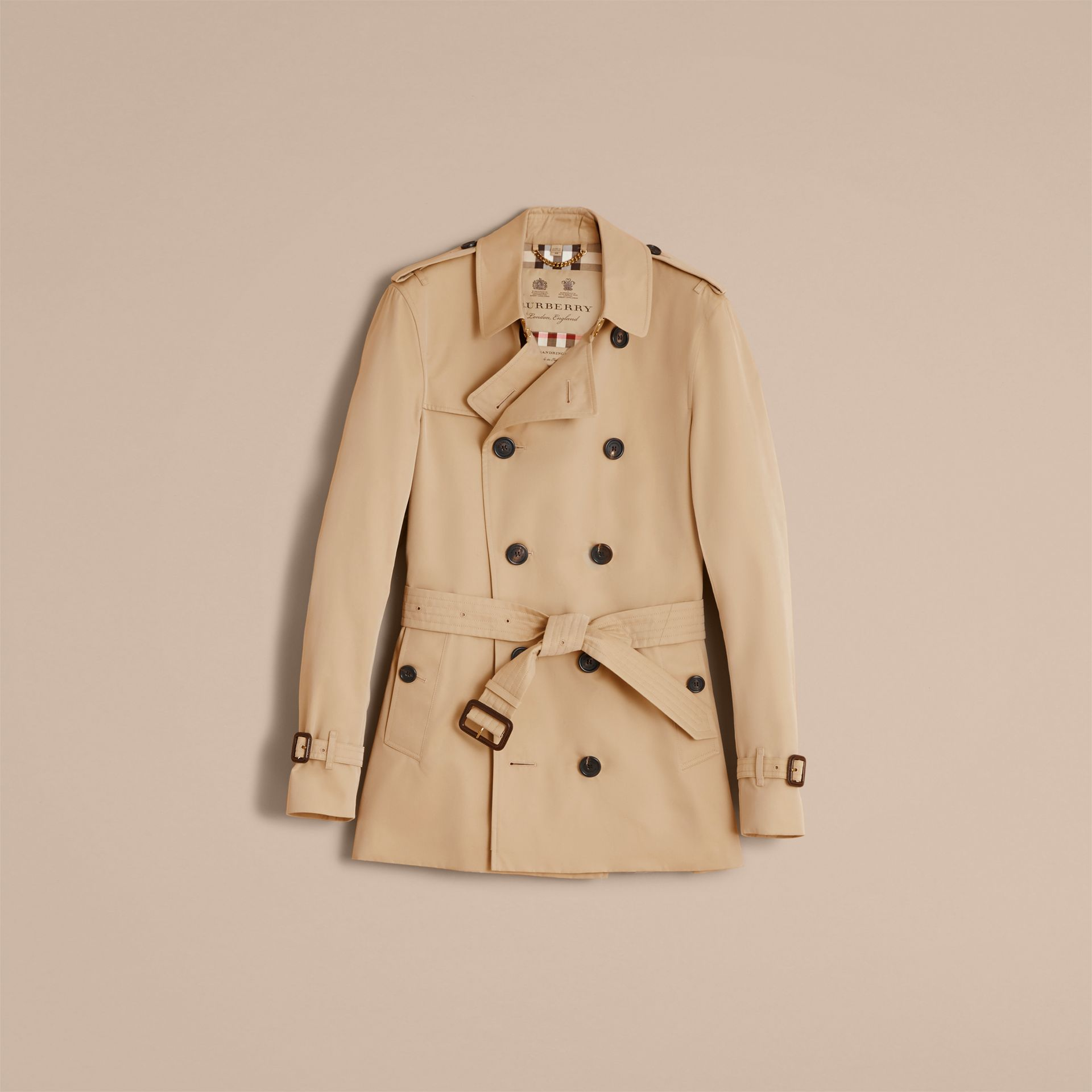 Honey The Sandringham – Short Heritage Trench Coat Honey - gallery image 5