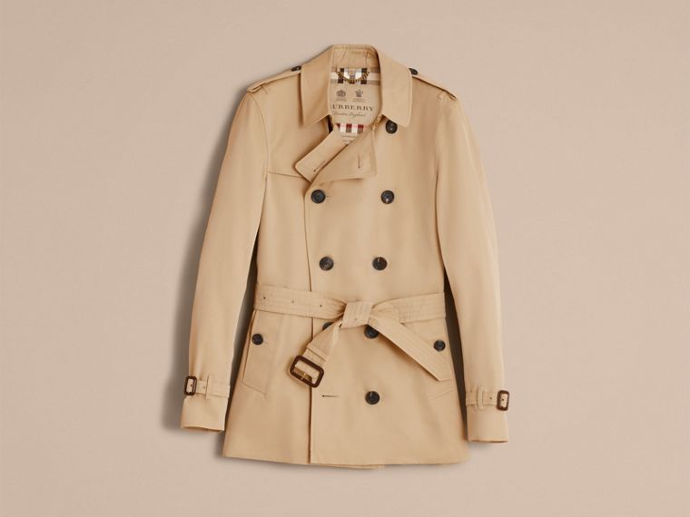 Honey The Sandringham – Short Heritage Trench Coat Honey - cell image 4