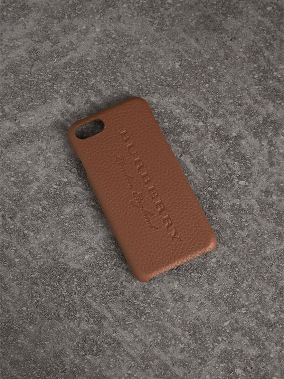 iPhone 7-Etui aus London-Leder (Kastanienbraun)