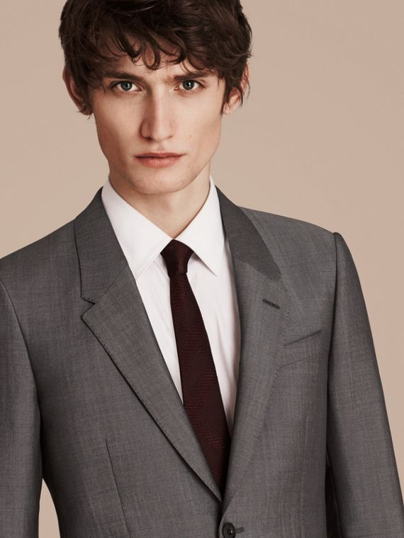 Mid grey The Chelsea – Slim Fit Wool Mohair Suit Mid Grey - cell image 2