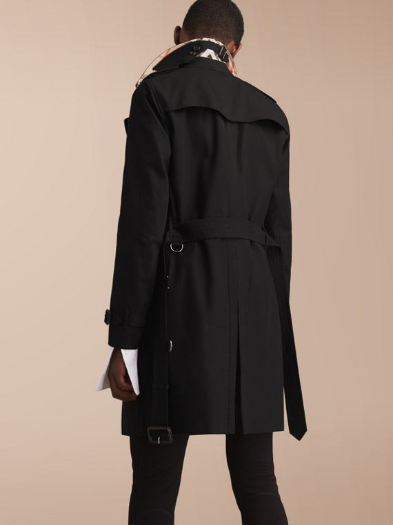 The Chelsea – Long Heritage Trench Coat in Black - cell image 2