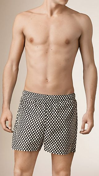 Polka Dot Print Lightweight Swim Shorts
