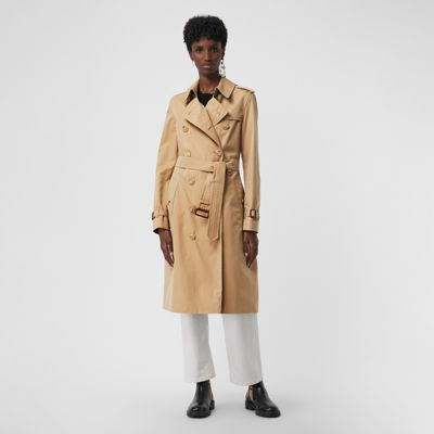 The Long Kensington Heritage Trench Coat by Burberry