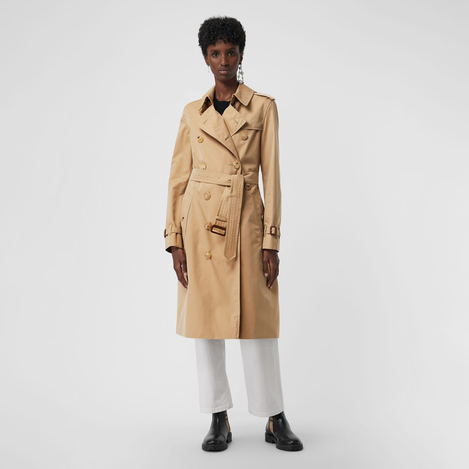 The Long Kensington Heritage Trench Coat in Honey - Women | Burberry - gallery image 0