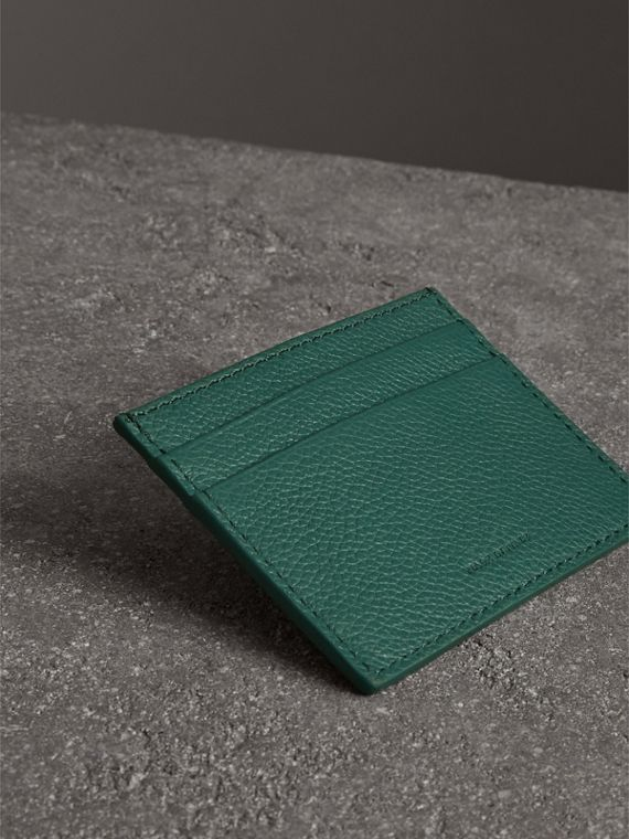 Grainy Leather Card Case in Dark Cyan | Burberry United States - cell image 2