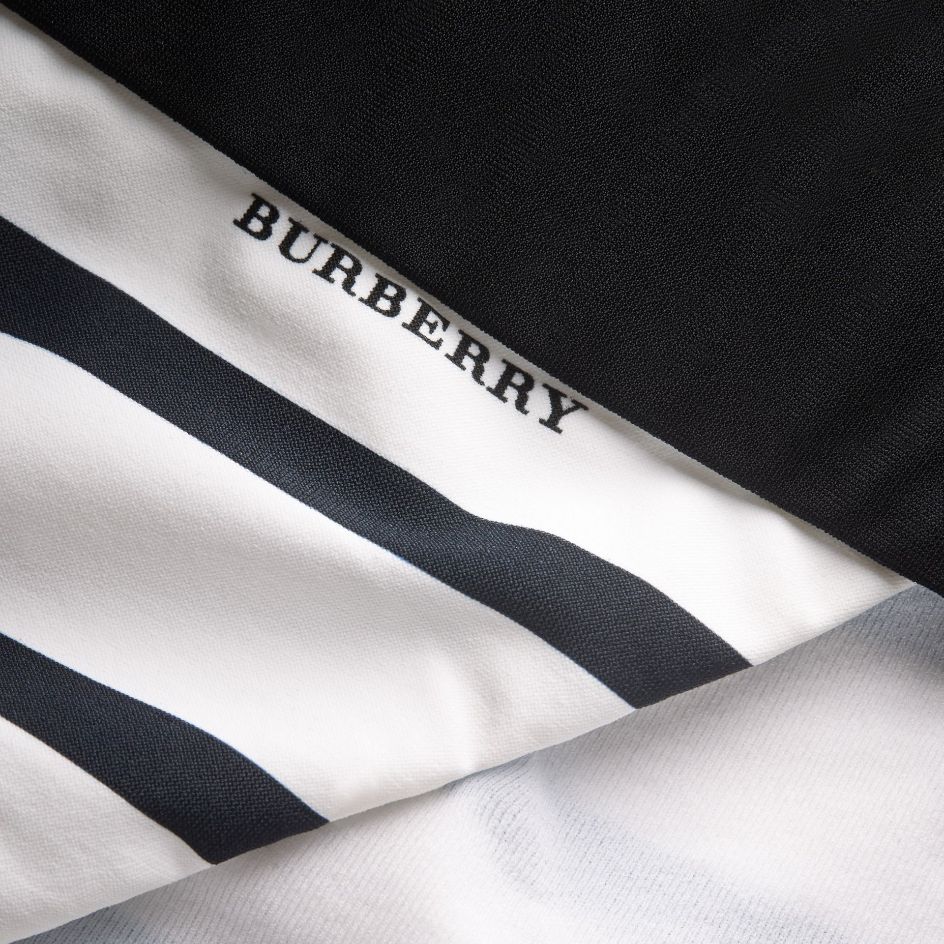 Striped Triangle Bikini - Women | Burberry - gallery image 2