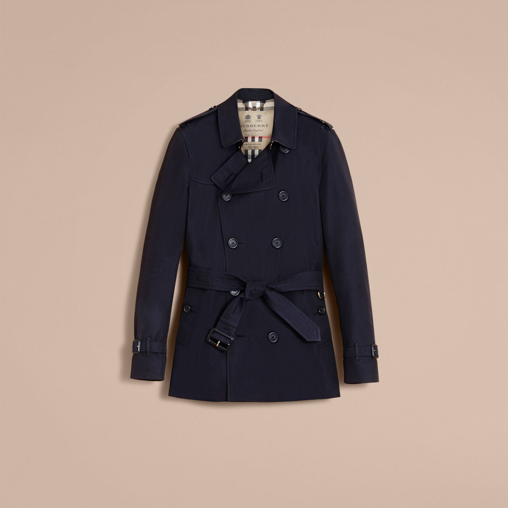 The Kensington – Short Heritage Trench Coat in Navy - gallery image 4