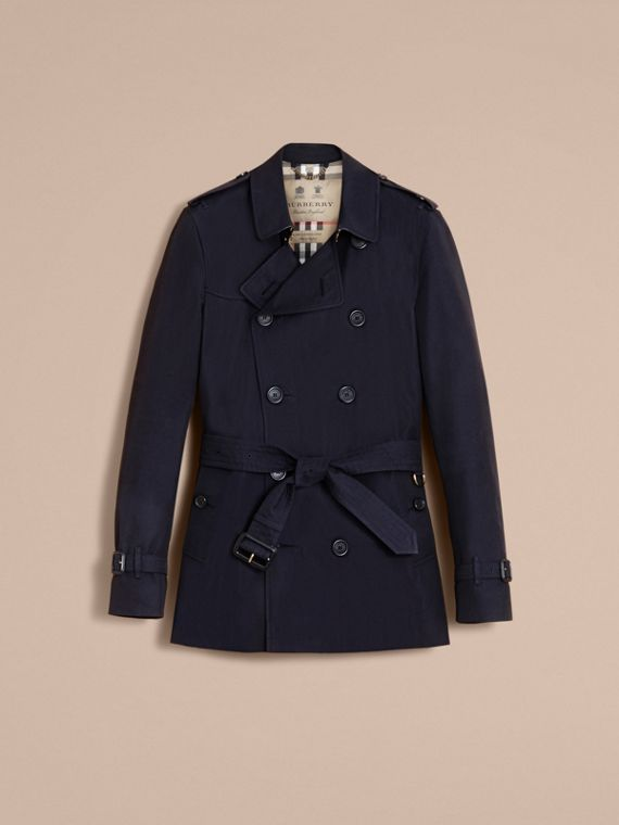 The Kensington – Short Heritage Trench Coat in Navy - cell image 3