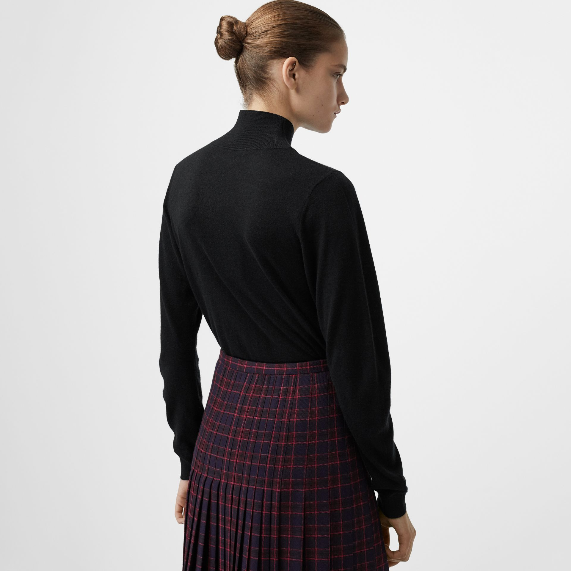 Cashmere Turtleneck Sweater in Black - Women | Burberry Australia - gallery image 2