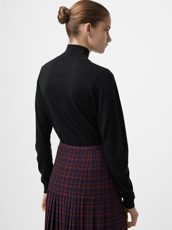 Cashmere Turtleneck Sweater in Black - Women | Burberry Australia - cell image 2