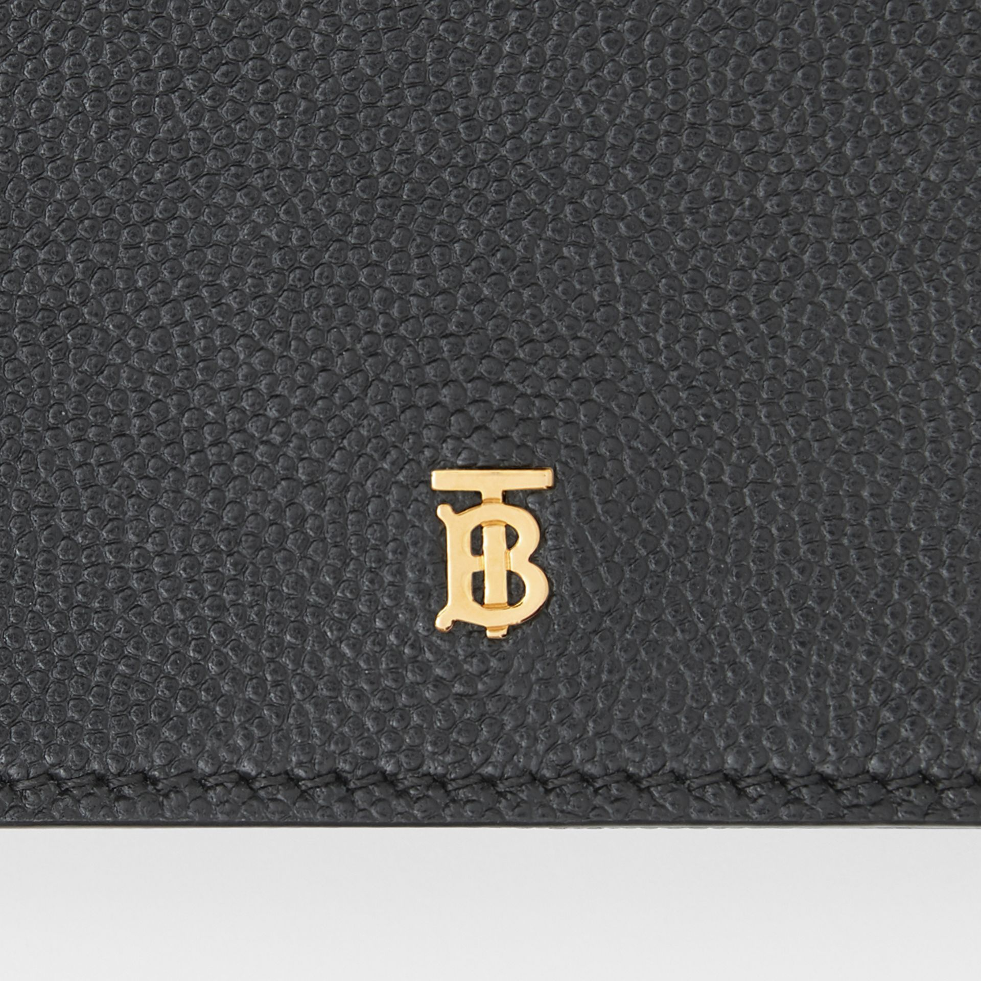 Small Grainy Leather Folding Wallet in Black - Women | Burberry - gallery image 1