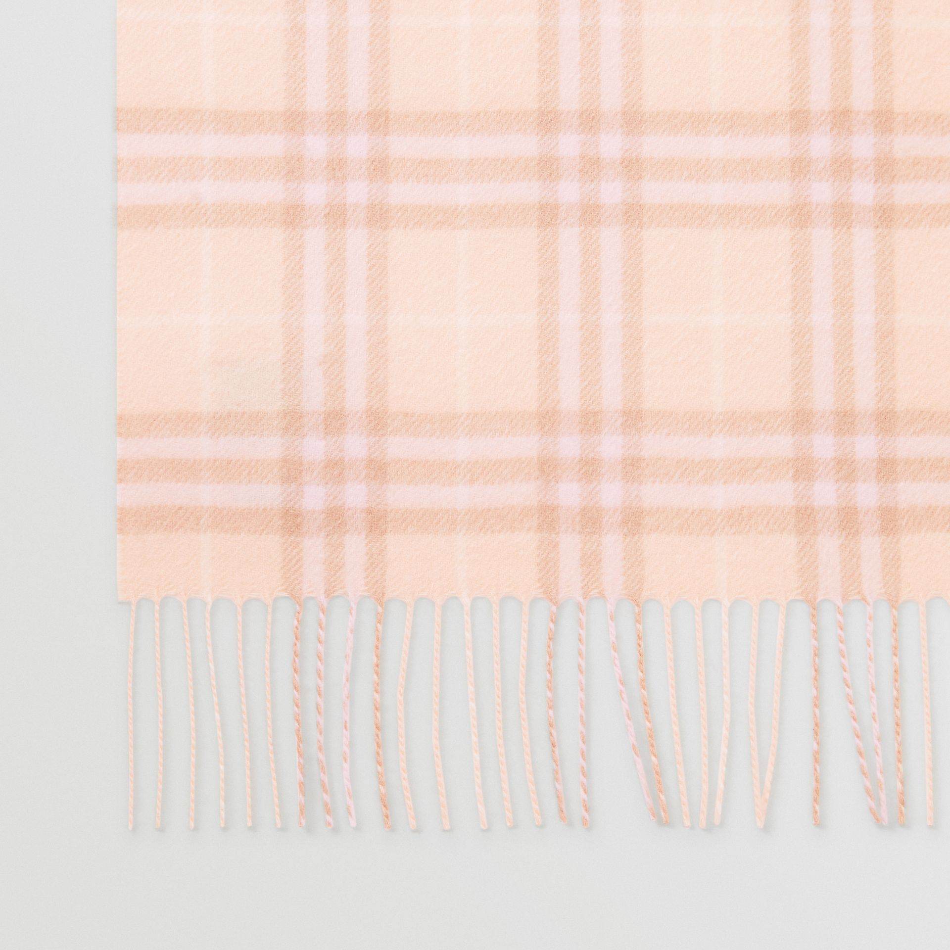 The Classic Vintage Check Cashmere Scarf in Dusty Pink | Burberry Australia - gallery image 1