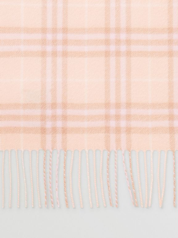The Classic Vintage Check Cashmere Scarf in Dusty Pink | Burberry Australia - cell image 1