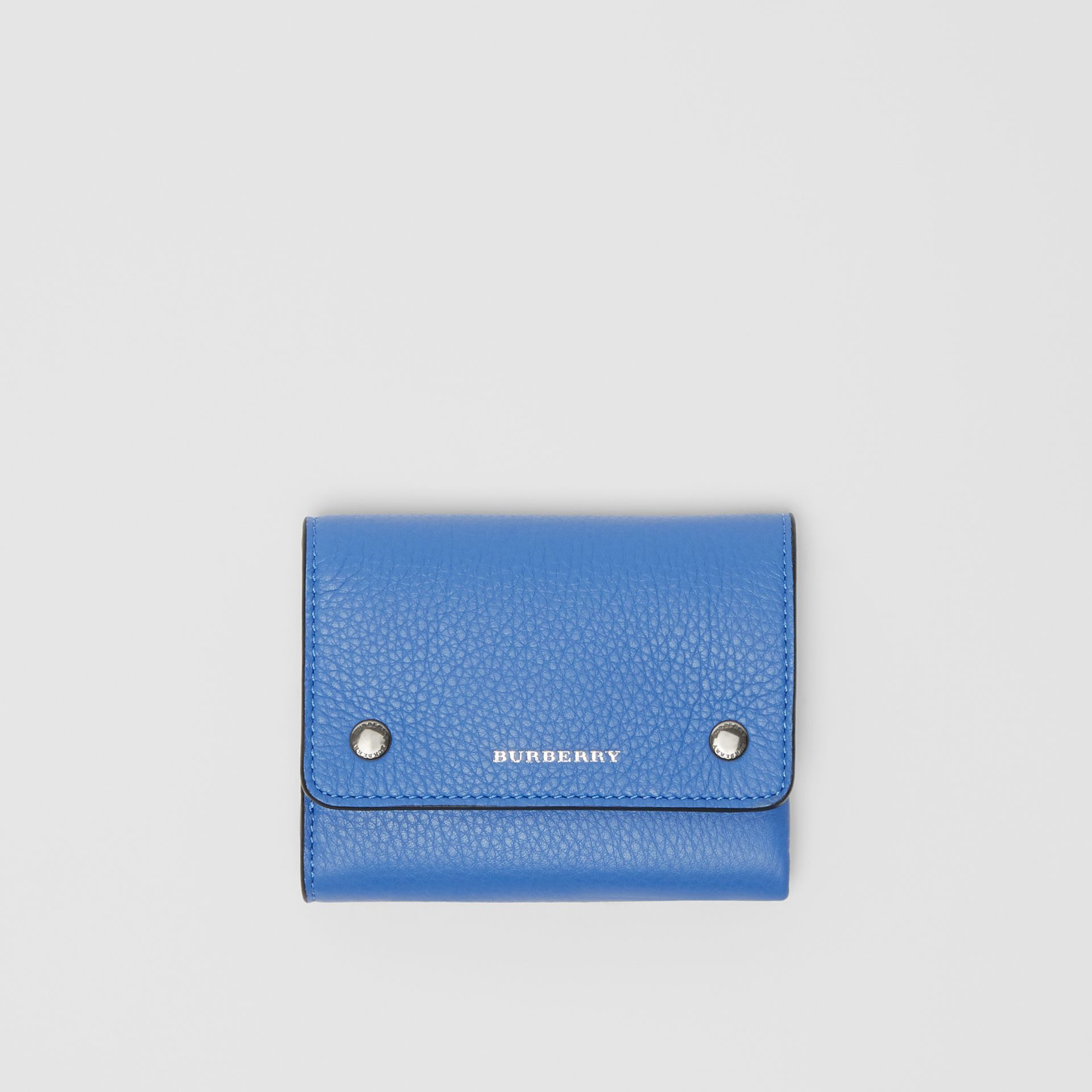 Small Leather Folding Wallet in Hydrangea Blue - Women | Burberry United States - gallery image 0