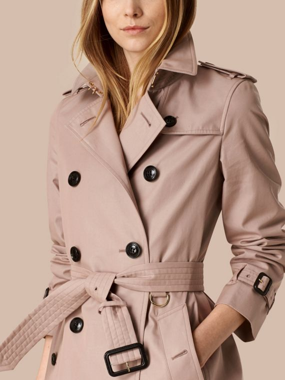 Nude Lightweight Cotton Gabardine Trench Coat Nude - cell image 3